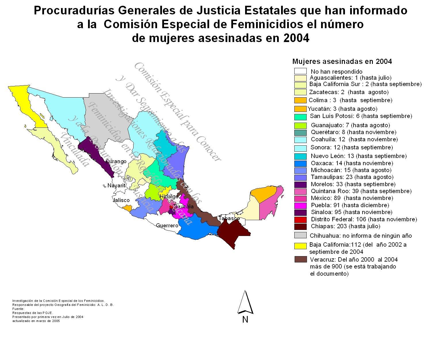GEOGRAFÍA DEL FEMINICIDIO EN LA REPÚBLICA MEXICANA
